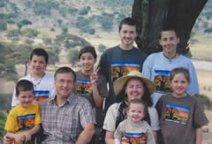 Dr. Mark and his family in Bwambo, Tanzania.jpg